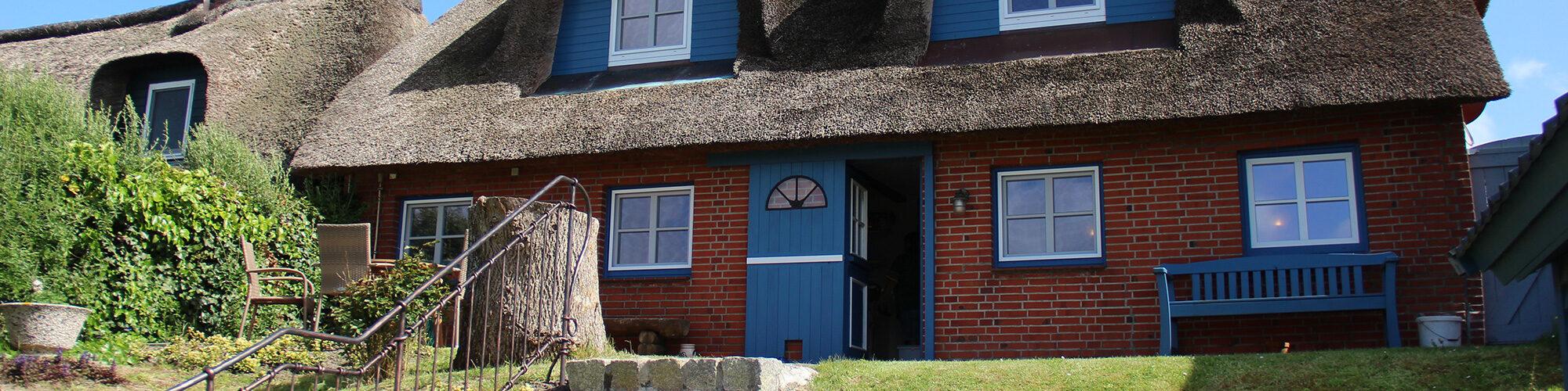 Ferienhaus auf Pellworm: Ausgang zum Garten