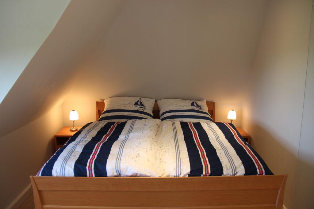 Ferienhaus auf Pellworm Schlafzimmer oben