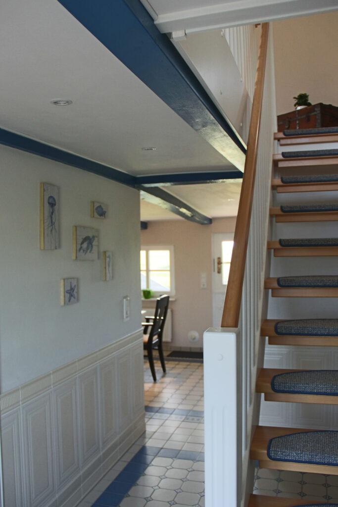 Ferienhaus auf Pellworm Treppenaufgang