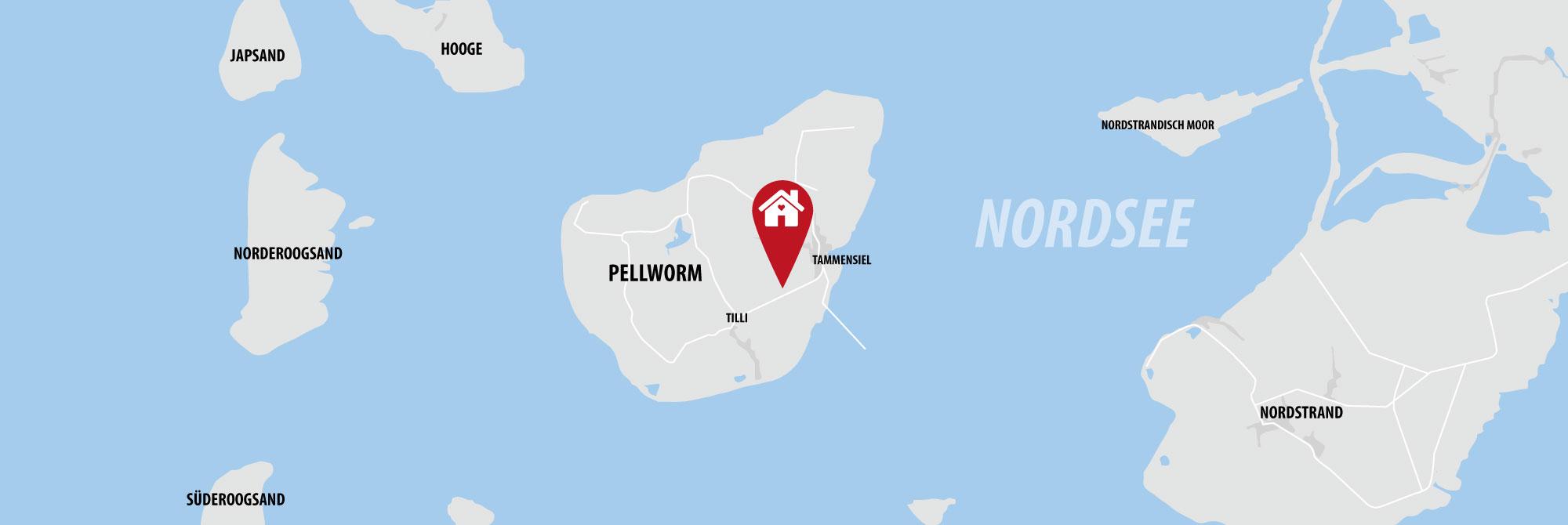 Ferienhaus auf Pellworm in der Nordsee